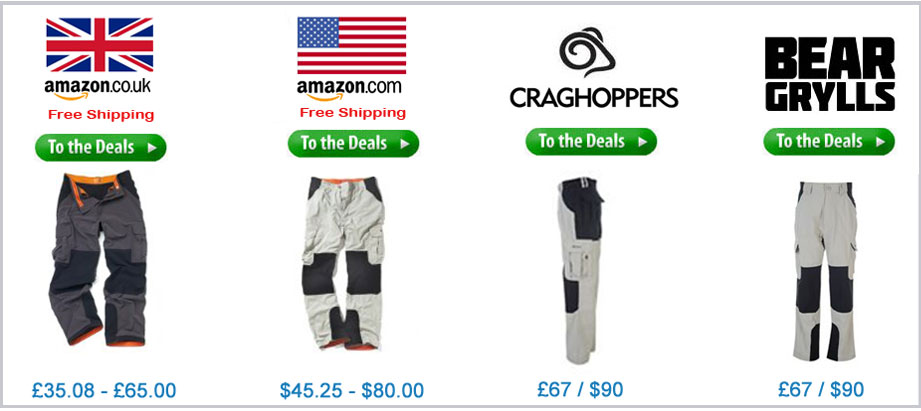 Bear Grylls Survivor Trousers Price Comparison